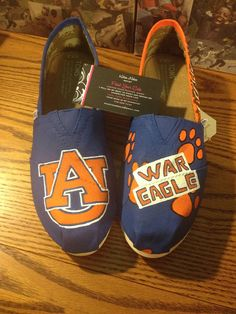 b2031929de Hand Painted Auburn University Toms NOTE by PaintYourSole on Etsy