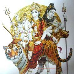 Family - Ganesh, Parvati, Shiv