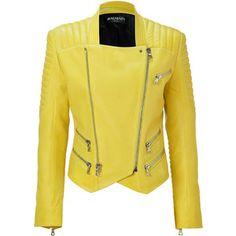 BALMAIN Sunshine Lambskin Biker Jacket - Polyvore