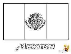 mexico flag coloring pages kids culture class pinterest mexico