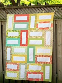 The Euclid Quilt. Might be nice to get family members to sign or write messages in the white blanks.