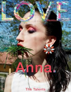 Anna Cleveland by Juergen Teller for Love No.14 FW 2015 Cover 1