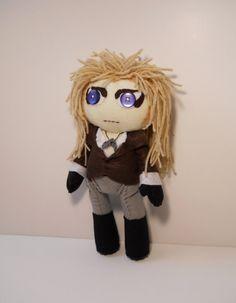 Southern Gothica felt, stuffing, string, buttons, yarn Felt Jareth the Goblin King inspired custom plush stuffed rag doll Labyrinth