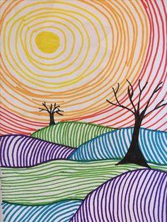 doodle art Arts Visuels - (page - LocaZil Art Drawings For Kids, Drawing For Kids, Easy Drawings, Art For Kids, Drawing Art, First Art, School Art Projects, Art School, Doodle Art