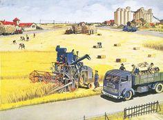 La moisson le machinisme agricole
