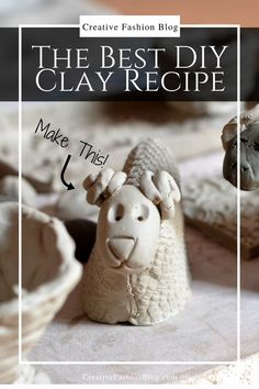 The Perfect DIY Clay Recipe is part of Kids Crafts Clay Baking Soda - The ultimate baking soda clay recipe Within a matter of minutes, your kids could be sculpting and creating with clay that dries like porcelain Homemade Clay Recipe, Homemade Crafts, Baked Clay Recipe, Modeling Clay Recipe, Sculpting Clay Recipe, Modelling Clay, Art Clay, Clay Clay, Paper Mache Clay