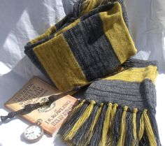 Fantastic beasts and where to find them comes out soon, heres my version of Newt Scamanders faded, vintage, obviously Hufflepuff scarf, made