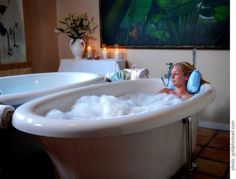 http://lavenderhillspa.com/treatments/bath-treatments/  Water therapies have long proved their worth as effective preventative medicine. The bath treatment stimulates metabolic activity, increases blood supply, relaxes the muscles and activates the body's natural recuperative process.