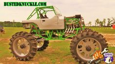 """DVDs & APPAREL - http://www.bustedknuckle.com Kenny Miller owns arguably the Baddest Mega Jeep on the planet with its massive 64"""" tires and 2000hp blown engi...."""