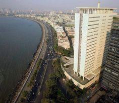 Aerial view of Air India Building, Marine Drive, Mumbai