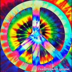 Tie dye ✌Peace Sign #Hippilicious __[By Yangmei] #cRainbow