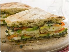 Triple Decker Tomato, Avacado, Mozzarella, Pesto Panini