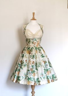 Country Garden Floral Print Cotton Heidi Dress - Made to Measure - by Dig For Victory. £125.00, via Etsy.