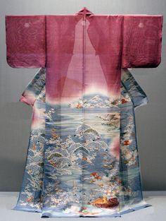 Kimono d'été Katabiri en soie, 18ème