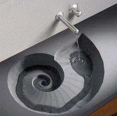 Love spirals! This sink is a must