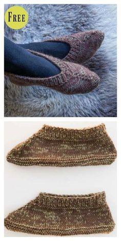 Simply Knit Lady's Slippers Free Pattern #freeknittingpattern #knittingpattern #slippers