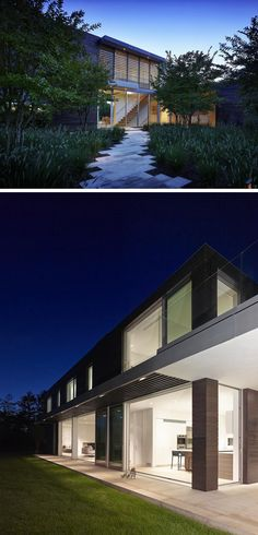 Stelle Lomont Rouhani Architects have designed the Orchard House, located in Sagaponack, New York.