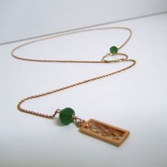 Dream Chain in Gold and Green Agate  Available at www.oncefound.co.uk