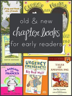 Great list of early chapter books for children between picture books and full-length chapter books