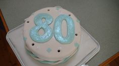 80th birthday cake for grandpa (made by Hannah)