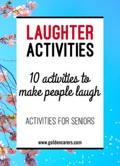 Instilling a culture of humor and laughter into long-term care facilities is good for everyone and may even improve the overall functioning and well-being of your clients. It is important to incorporate funny and amusing activities into your regular progr Assisted Living Activities, Senior Assisted Living, Nursing Home Activities, Cognitive Activities, Alzheimers Activities, Wellness Activities, Senior Living, Physical Activities, Physical Education