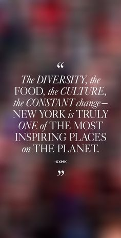 """The diversity, the food, the culture, the constant change that is at its core—New York is truly one of the most inspiring places on the planet."" – xxMK #MKNewYorkCity"