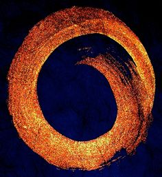soup lunch/my candle flame/casts no shadow (haiku and enso by susan)