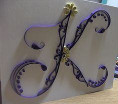 Paper Quilling letters