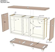 How To Build A Sideboard From Stock Cabinets My Kitchen