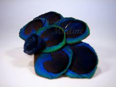 Haarklammer blauer Pfau von Mialine auf DaWanda.com