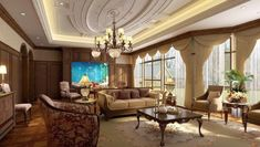 Living Room Ceiling Designs Villa For Interesting Living Room Ceiling Design to Create Gorgeous Living Room High Ceiling Living Room, Living Room Modern, Living Room Interior, Living Room Designs, Bedroom Ceiling, Interior Ceiling Design, Pop Ceiling Design, Drawing Room Design, Classic Ceiling