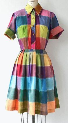 Colorbox dress vintage 1960s shirtwaist