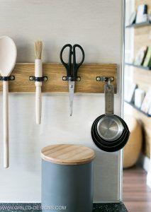 rustic diy utensil rack holder
