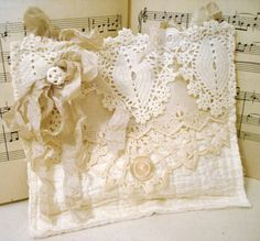 Gorgeous Lavender Sachet created from vintage lace by sewmanyroses, $18.00