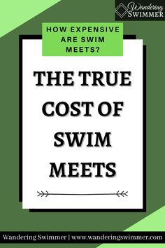 New to a swim team? You might wonder if swim meets are expensive and how much they cost. Here's a quick break down of various swim meet expenses. Swim Meet, True Cost, Encouragement, Swimming, Swim