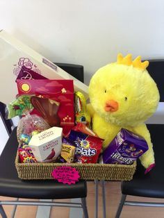 Easter raffle.....fill a basket with donations from shops, family and friends and sell raffle tickets x