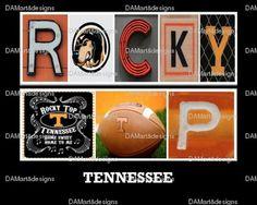University of TN Rocky Top Framed Alphabet Photo by DAMartStudio
