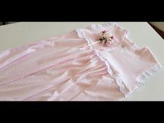 4 Yaş robalı kız çocuk elbisesi yapımı? - YouTube