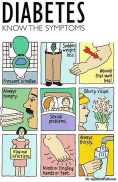 Conoce los sintomas. #diabetes #GlucUp15