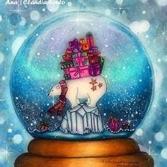 Take a peek at this great artwork on Johanna Basford's Colouring Gallery! Secret Garden Coloring Book, Coloring Book Art, Colouring Pages, Adult Coloring, Christmas Snow Globes, Magical Christmas, Christmas Books, Johanna Basford Books, Johanna Basford Coloring Book