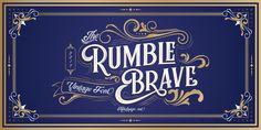 Rumble Brave Vintage Fonts - Webfont & Desktop font « MyFonts