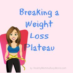 Breaking a weight loss plateau can be very frustrating. I share three tips to help you break it. It is as easy as making small adjustments to what you are already doing.