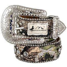 Way cute camo belt!! Bling bling cowgirl