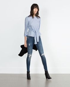 MID-RISE SKINNY JEANS from Zara