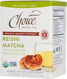 Choice Organic Immunity Support Wellness Tea, Reishi Matcha, 6 Count