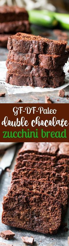 This super moist and rich double chocolate zucchini bread tastes like dessert but is secretly healthy, Paleo, free of refined sugar, grain free, gluten free and dairy free. It's kid approved and great for snacks and even breakfast! paleo lunch kids