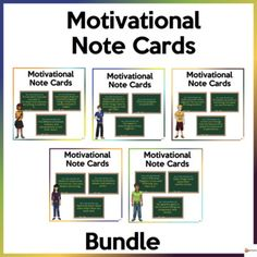 School can be tough sometimes and can be difficult for our students. Help your students to stay motivated, inspired, and learn from these difficulties.This bundle of motivational note cards is a great reminder to help the students process their experiences, challenge them to think positively and pro... School Resources, Classroom Resources, Classroom Organization, Classroom Management, School Stuff, Back To School, Learning Environments, Getting To Know You, My Teacher
