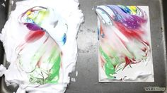 Bildtitel Paint Marbled Paper Using Shaving Cream Step 6 preview