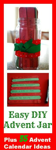 Mess For Less: Easy DIY Advent Jar and 35 Advent Calendar Ideas