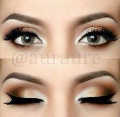 Pretty makeup for green eyes.... I need to be oble enough though but when I am this is prob what I'll do.....